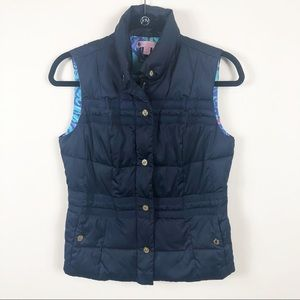 Lilly Pulitzer Isabelle navy down puffer vest